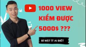 Cách Youtube Tính Tiền, 1000 View Trên Youtube Kiếm Được Bao Nhiêu Tiền, Bí Mật Chưa Ai Nói